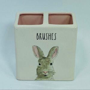 NWOT Rae Dunn Bunny BRUSHES Holder